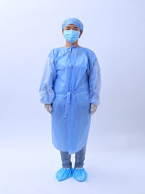 how to wear medical gown