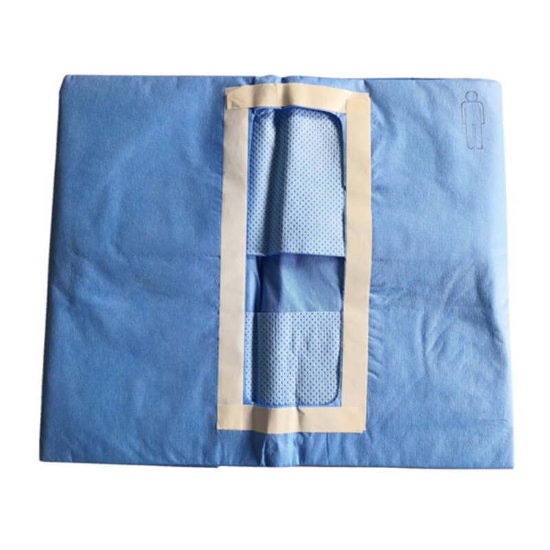 disposable surgical drapes for laparotomy procedure