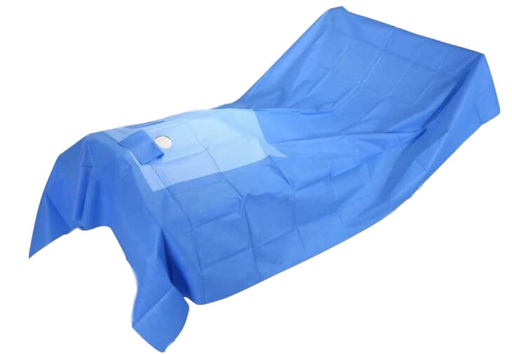 angiography drape pack for operating room