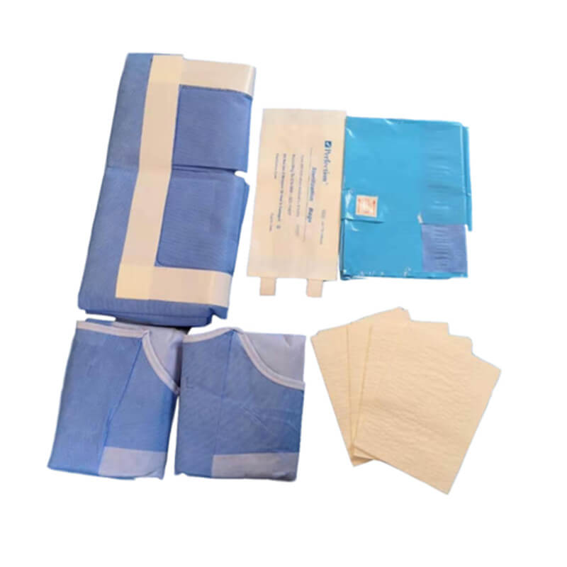 laparoscopy drape pack for laparoscopic and perineal procedures