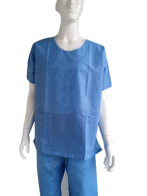 disposable patient gown used in patient room