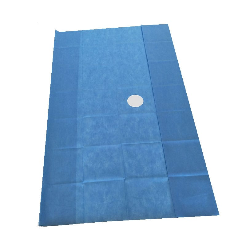 disposable sterile fenestrated surgical drape using in various hospital surgery