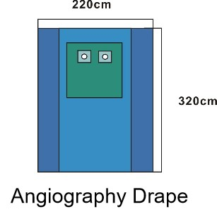 angiography drape with ce