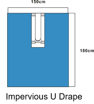 disposable u drape with CE