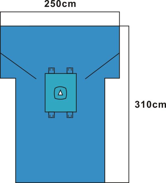 disposable c-section sterile surgical drape