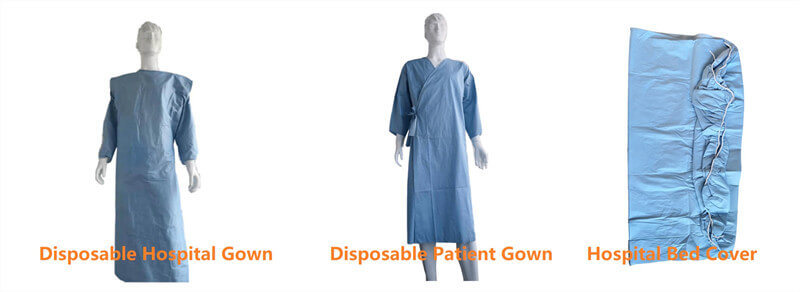 woodpulp biodegradable hospital gowns