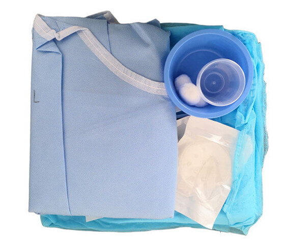 ophthalmic drape pack for eye procedure