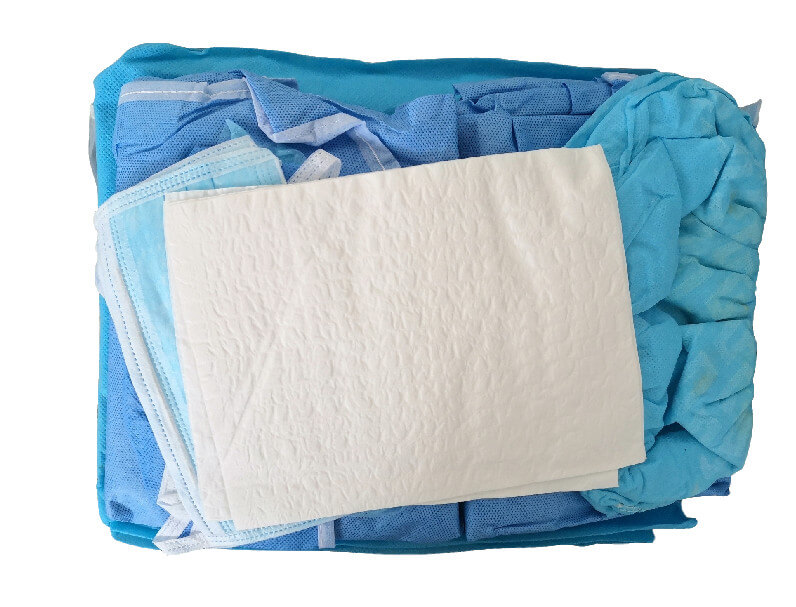 oral surgery drape pack using for dental surgery