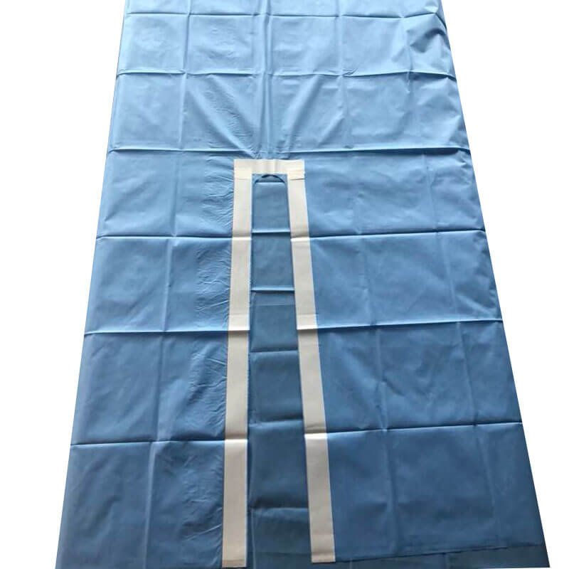 surgical split drape for hospital use