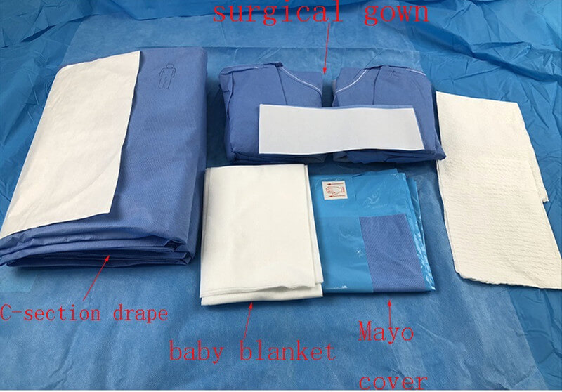 c section pack for cesarean operation