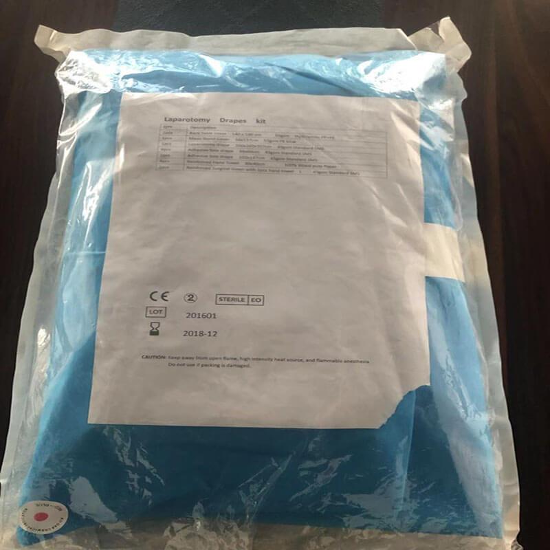surgical disposable laparotomy drape pack