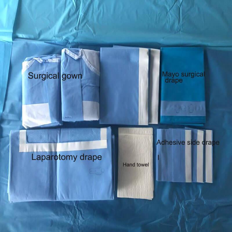surgical laparotomy drape pack